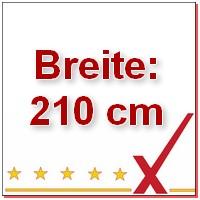 Breite 210 cm