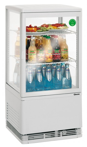 Bartscher Mini Kühlvitrine 58 Liter, weiß, für die Gastronomie