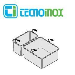 Tecnoinox Nudelkorb-Set 1 x GN 1/3 + 1 x GN 2/3 x 200 für 40L-Becken der Gastrogeräte-Serie Profi 90