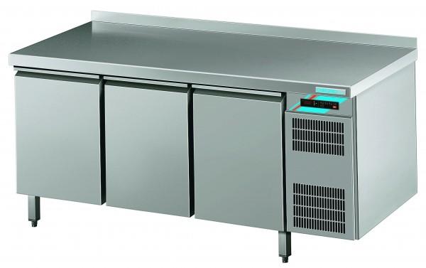 CHROMOfair / CHROMOnorm Kühltisch, 3 Türen, Voll-Edelstahl, Umluft für die Gastronomie