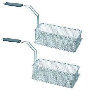 Tecnoinox Fritteusen-Körbe, 14lt, Set mit 2 Stk., 100x290x110mm
