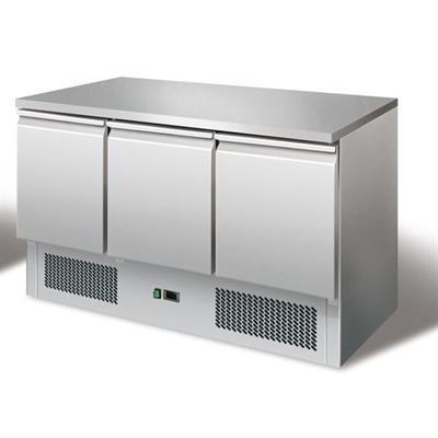 GastroXtrem Kühltisch Ecoline II, Edelstahl, Umluft für die Gastronomie
