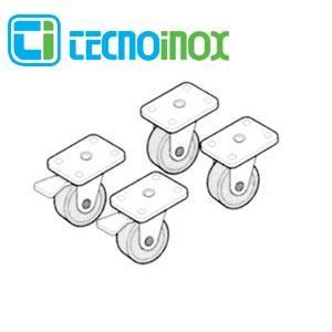Tecnoinox Rollen-Kit für Serie 700 Rädersatz