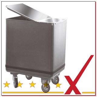 Mehlwagen und Zutatenbehälter