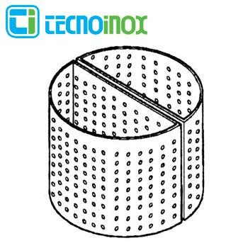 Tecnoinox Korb für 150 Liter Kochkessel Lochdurchmesser 8 mm Serie Profi 900