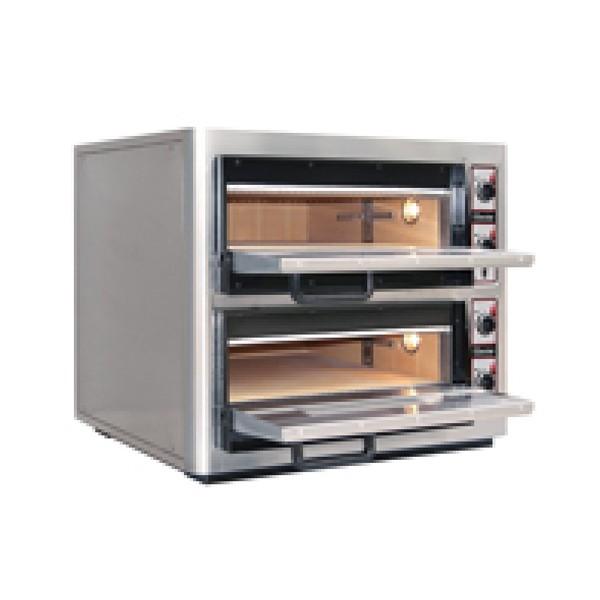 Bartscher Pizzaofen NT 622VS für 2x4 Pizzen mit Vollschamott Backkammer - 2002098