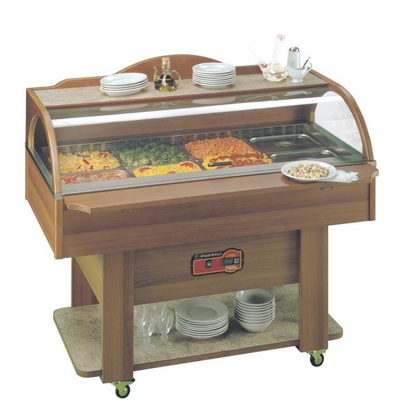 Salatbar - Kühlbuffet, Wandaufstellung 4 x GN 1/1