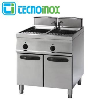 Elektro-Multikocher 2 x GN 1/1 Tecnoinox 2x40 Liter CP8FE9 Gastro-Nudelkocher