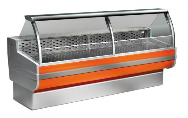 Freikühltheke Cordoba 150 / Kühlvitrine mit statischer Kühlung