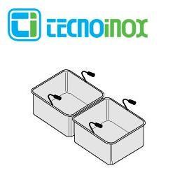 Tecnoinox Nudelkorb-Set 2 x GN 1/2 x 200 für 40-Liter-Becken der Gastronomiegeräte-Serie Profi 900