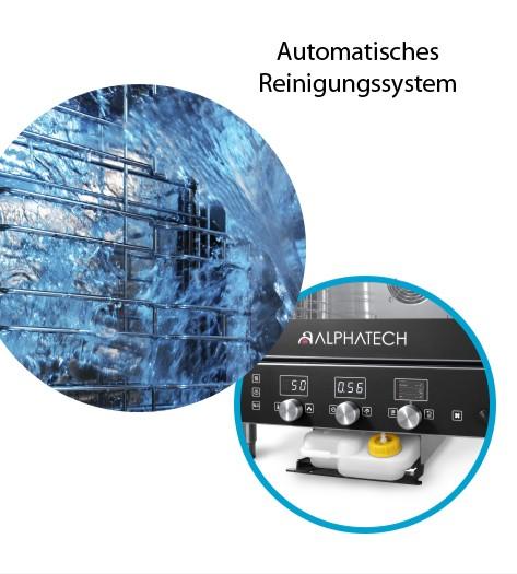 Automatisches Reinigungsystem für Geräte mit T-Steuerung werkseitig integriert