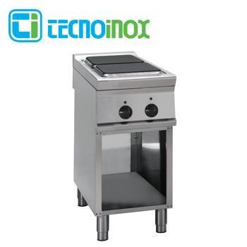 Gastronomie-Elektrokochfeld mit 2 Heizzonen eckig / quadratisch 8 kW Tecnoinox PC4FE9