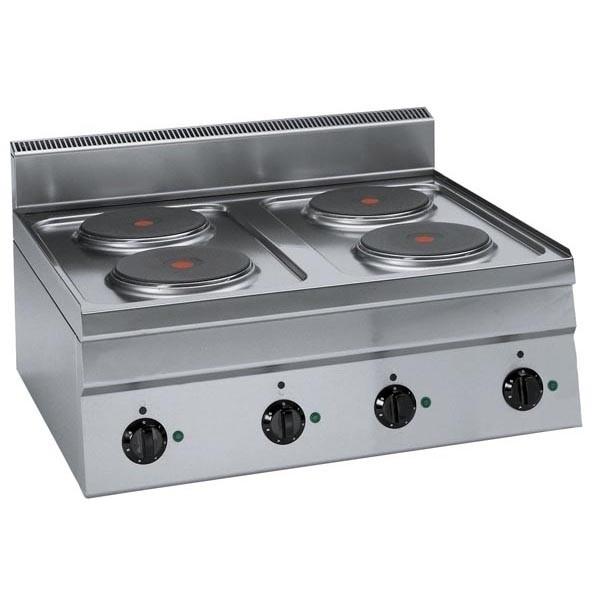 Tecnoinox Kochfläche, Elektro, 4 runde Platten, 8kW