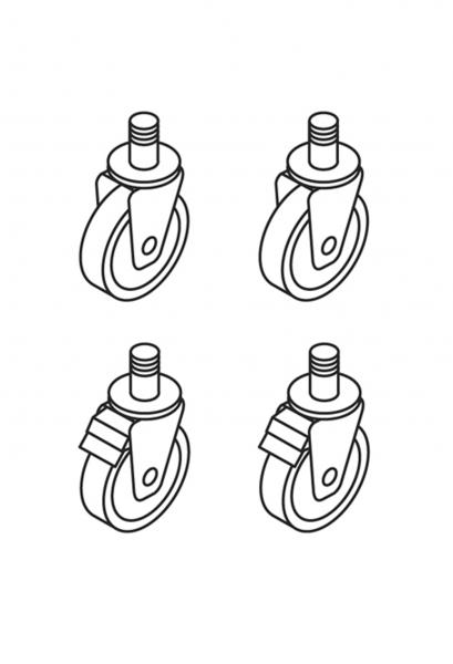 Rädersatz für Stapelaufstellung