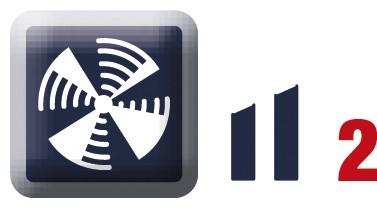 Zwei Lüftergeschwindigkeiten für 5 x GN 1/1 Geräte mit T-Steuerung Nachrüstkit für den nachträgliche