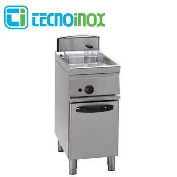 Gas-Fritteuse Tecnoinox 1x21 Liter 19 kW FRV41FG9 Gastronomie-Friteuse Profi 900