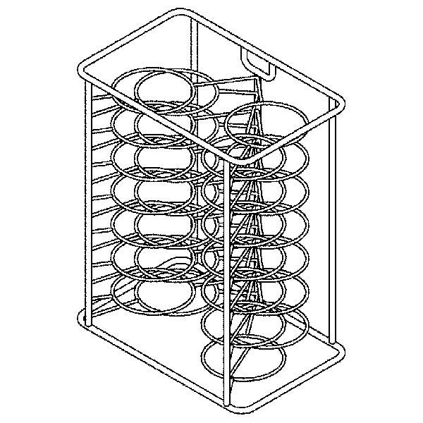 Teller-Hordengestell, 14 Teller, 6xGN 1/1 LAINOX Kombidämpfer