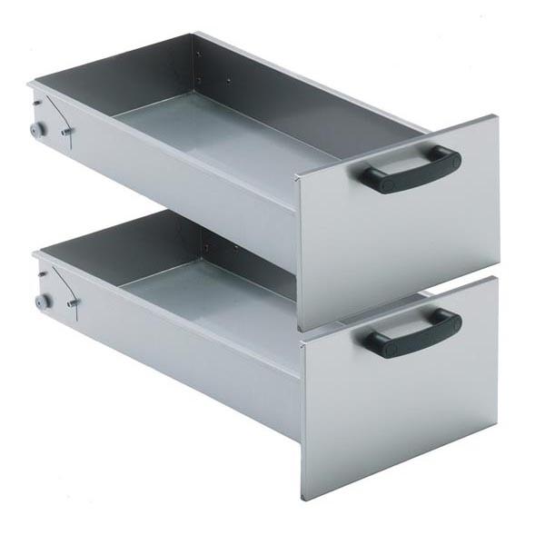 Tecnoinox Schubladen-Kit für Unterschränke, 2 Stück, 1GN 2/1, 70cm breit